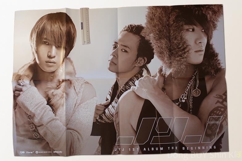JYJ 1st Album The Beginning Poster CJeS Show Warner Music Korea Vitamin