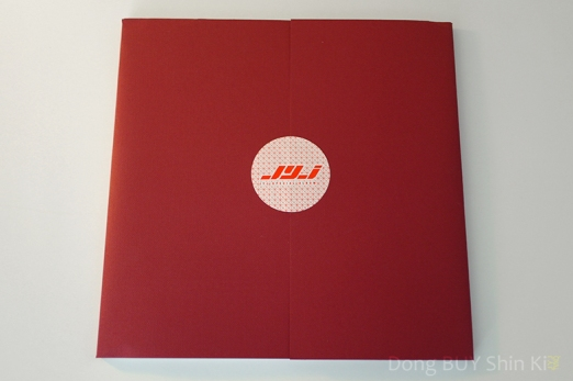 JYJ The Beginning photocards from special limited edition in red wrapping