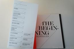 JYJ The Beginning tracklist special edition booklet