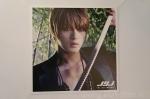 The Beginning photocard 2 Jaejoong katana sword jungle black suit brown hair