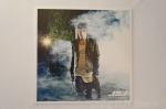 The Beginning photocard 5 Jaejoong wet fog white shirt black leather jacket