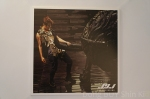 The Beginning photocard 9 Junsu arms tattoo leather tags boots black rubber tires bull