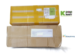 Just Us JYJ album shipping boxes Kpopmart ktown4u comparison