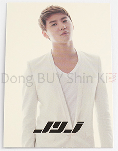 Junsu JYJ Collection card back hologram white suit short hair