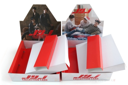 JYJ Collection Card box Type A B with the white cardboard base and edge removed