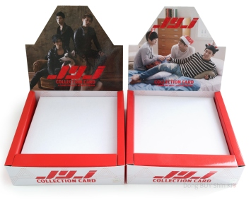 JYJ Collection Card box type A type B with the carboard stand base inside