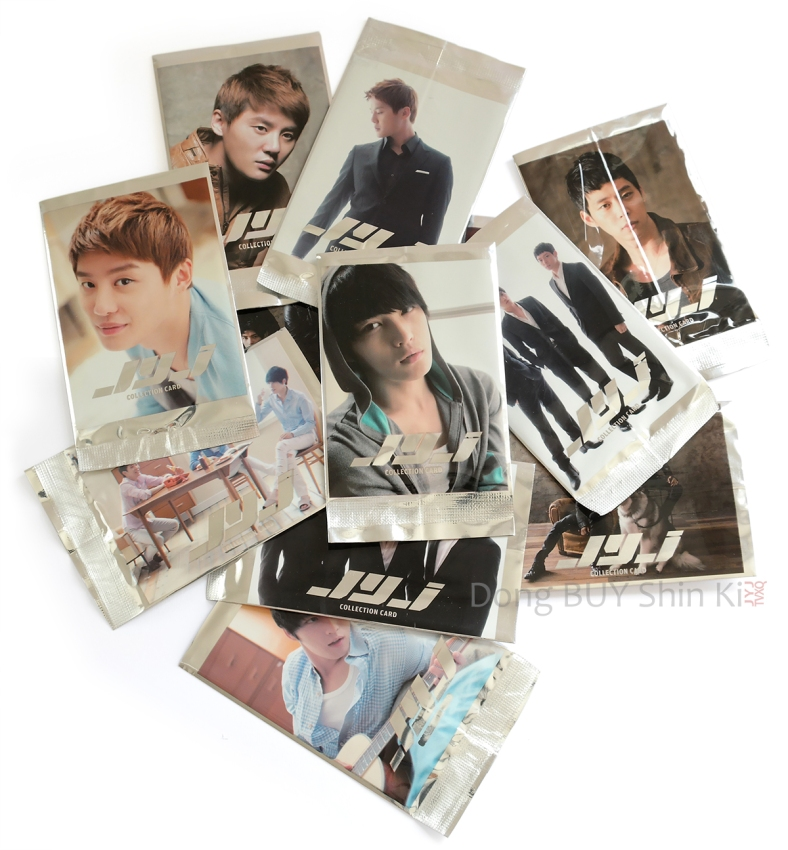 Different various types of packs for JYJ trading star collection cards