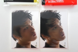 Kim Jaejoong card sleeve protector comparison size