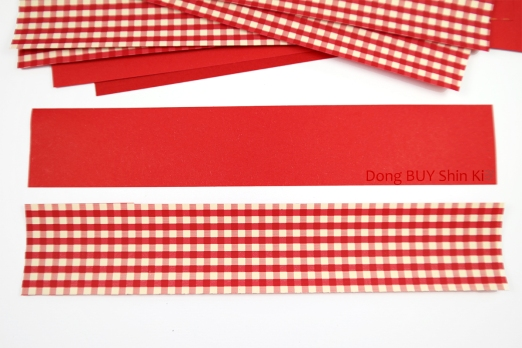 Red and white christmas paper strip