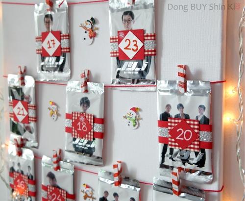 Kpop JYJ advent calendar DIY how to tutorial instructions christmas
