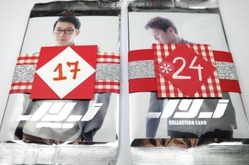 JYJ Collection Card Christmas advent calendar decorated strip Junsu Yoochun front