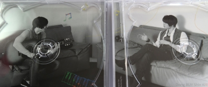 JaeChun soulmate couple inside of the jewel case CD DVD Yoochun guitar Jaejoong keyboard