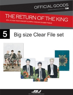 CJeS official The Return of the King 2014 JYJ Asia Tour Concert Olympic Stadium 2014 08 09 big size clear file set