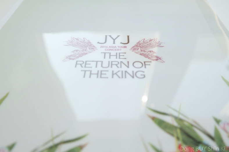 JYJ 2014 Asia Tour The Return of the King concert goods glossy background plastic