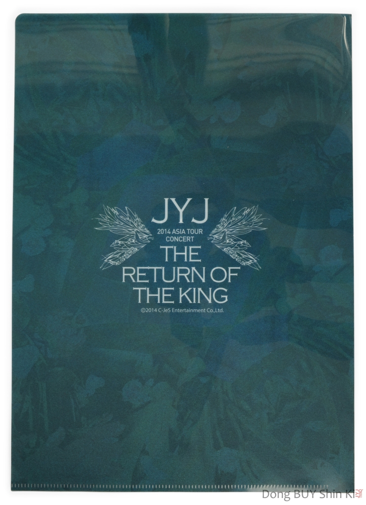 JYJ Clear File Folder back 2014 Asia Tour Concert The Return of the King Just Us Back Seat CJeS Official goods
