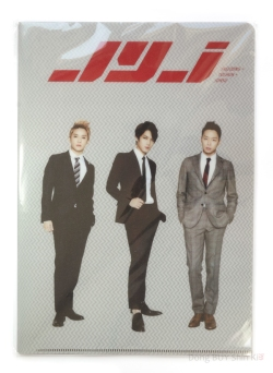 JYJ Clear folder set 3D A4 Jaejoong Yoochun Junsu suits front