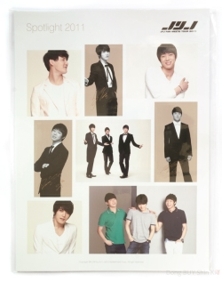 JYJ fan meets tour 2011 Spotlight sticker sheets Jaejoong Yoochun Junsu Lotte fanmeeting