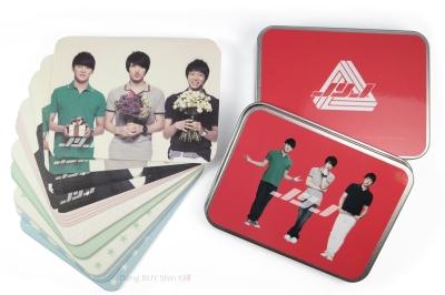JYJ memo paper box steel case bottom and lid