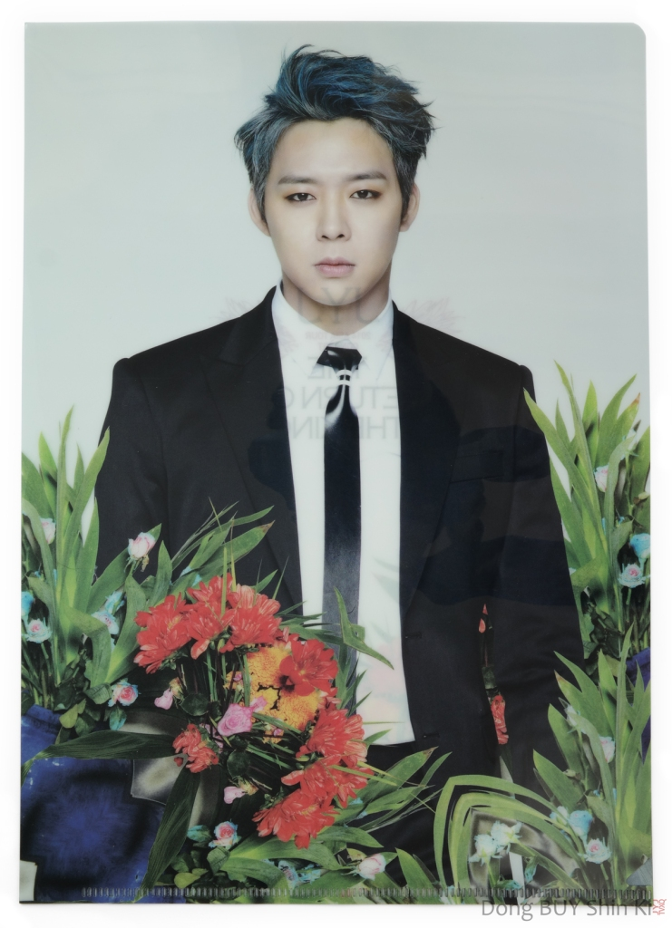 Park Yoochun Clear file folder Just Us Back Seat 2014 Asia Tour Return of the King Concert official JYJ goods CJeS Ent