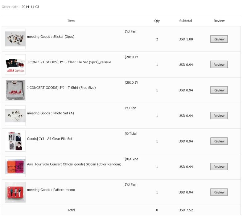 Prices Kpop Ktown4u JYJ haul 7 items goods