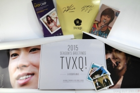 TVXQ 2015 Season's Greetings U-Know Yunho MAX Changmin autograph signature Ticket book yoonhostar posters photo cards ktown4u