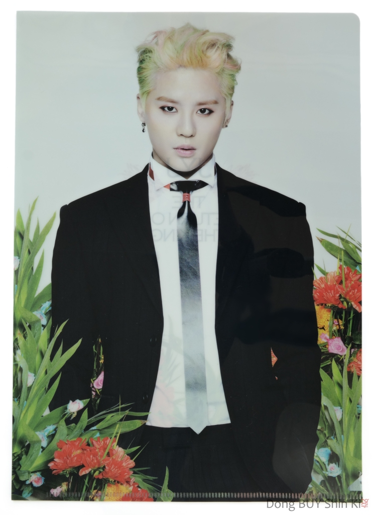 XIA Junsu clear file folder Back Seat Just Us album 2014 Asia Tour The Return of the King concert official goods CJeS Entertainment