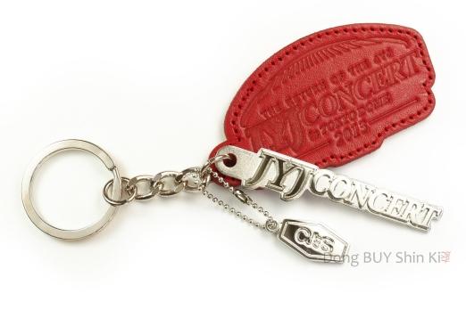JYJ Concert keychain key holder CJeS red The Return of the JYJ Concert Tokyo Dome 2013 Jaejoong Yoochun Junsu