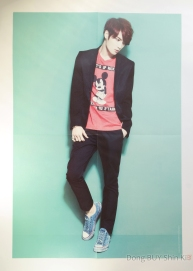 JYJ Kim Jaejoong poster book from concert in Tokyo Dome 2013 official goods