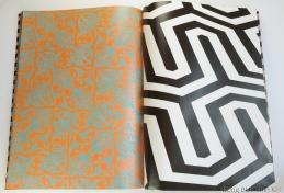 JYJ large pattern paper orange and black and white stripes