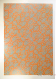orange and blue wrapping paper poster wallpaper
