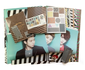 Unboxing JYJ Poster Wrapping paper keychain key holder Tokyo Dome concert official goods featured