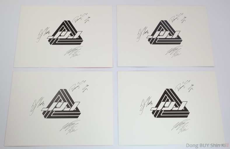 JYJ fanmeetings postcards Jaejoong Yoochun Yuchun Junsu signature autograph 2011 back