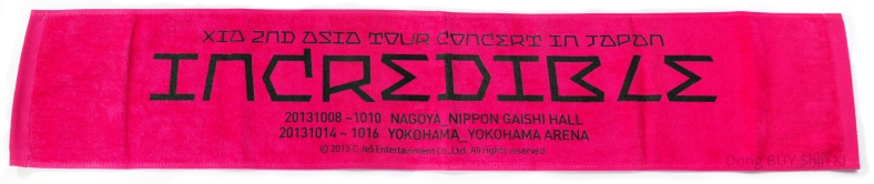 Xia Junsu Incredible Yokohama Nagoya slogan towel pink official Xia concert goods
