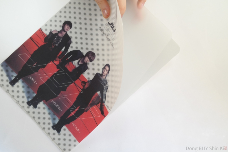 JYJ 3D thick file folder with middle partition red Jaejoong Yoochun Junsu the beginning photo