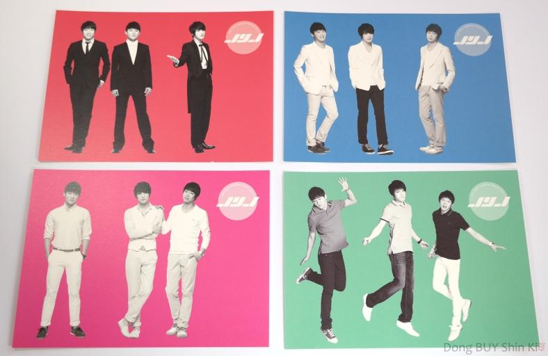 JYJ fanmeeting postcards 2011 Jaejoong Yoochun Junsu four colors