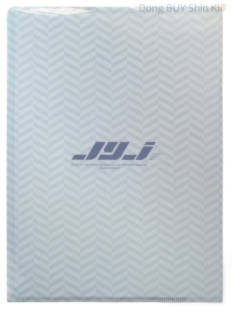 JYJ Kpop clear file Kim Junsu back rear