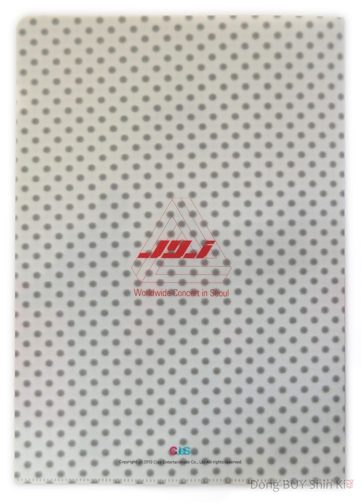 JYJ Worldwide Concert in Seoul thick 3D clear file folder CJeS back