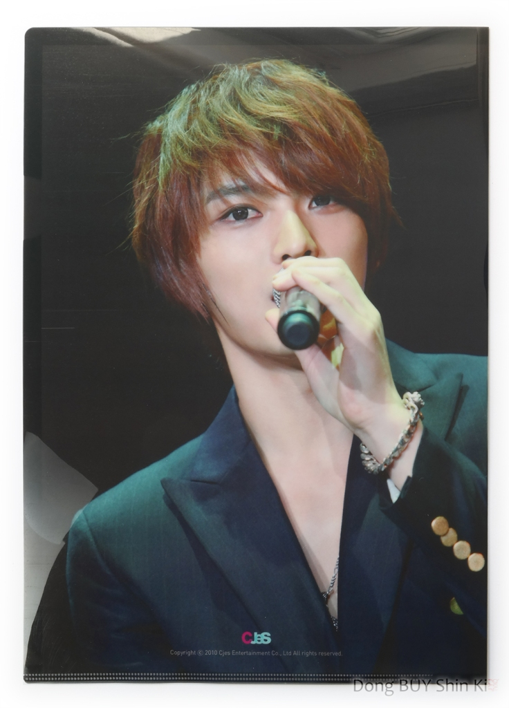 Unboxing JYJ glossy shiny folder Worldwide Concert in Seoul 2010 Hero Jaejoong handsome sexy short red hair