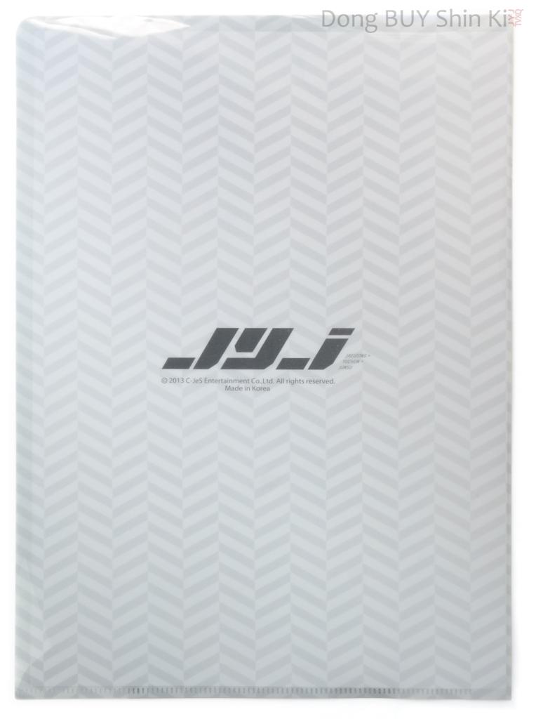 Unboxing JYJ Park Yoochun Yuchun clear file set Yep Seoul 2013 10th anniversary back