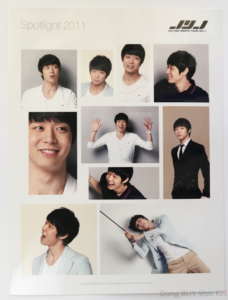 Unboxing Yoochun JYJ sticker sheet Spotlight 2011 C-JeS Entertainment official fanmeeting goods