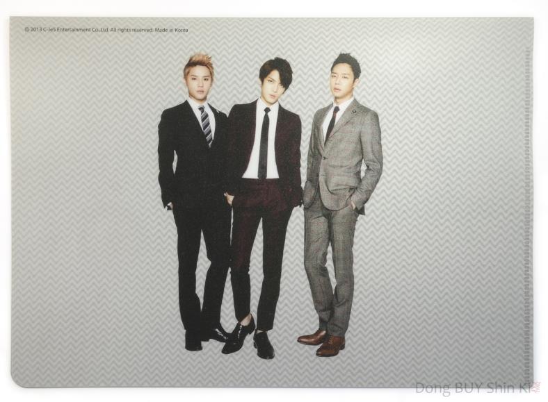 2013 CJeS Entertainment official JYJ merch file folder stationery back