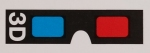 3D glasses icon red and cyan 3D anaglyph stereoscopic Kpop