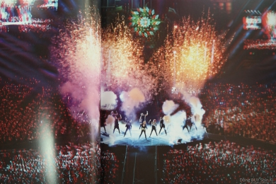 3D JYJ concert stage fireworks smoke effects Jaejoong Yuchun Junsu in the middle