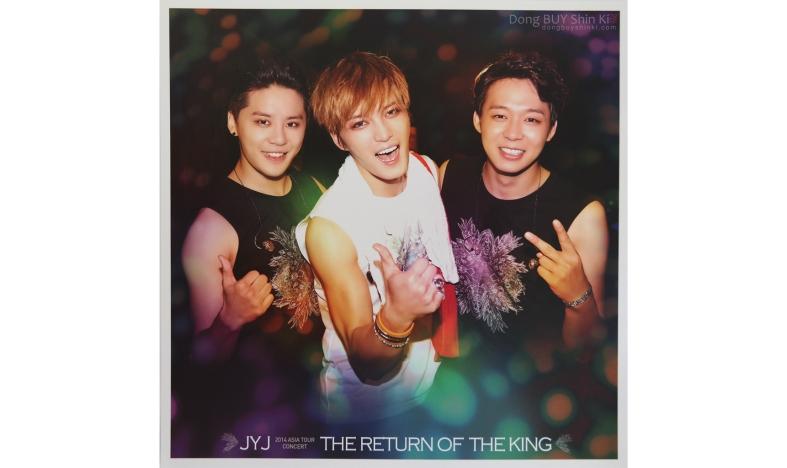JYJ 2014 Asia Tour Concert The Return of the King Junsu Jejung Yuchun black white shirt Just Us flower