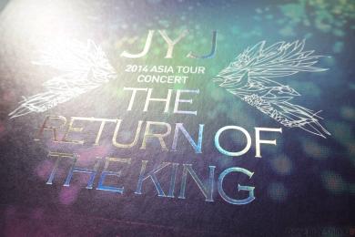 JYJ Jejung Yuchun Xiah Junsu 2014 Asia Tour Concert Seoul holographic letters flower silver print