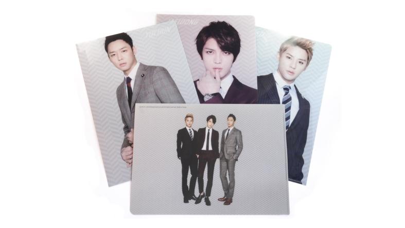 Kpop unboxing JYJ clear file folder set 3D effect