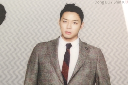 JYJ Yoochun Yuchun in suit and tie with short hair printed on 3D file folder cover