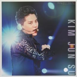 Kim Junsu Xia black lace dancing concert The Return of the King 2014 Asia Tour mini poster large photocard unboxing