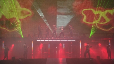 TVXQ Force live at Tokyo Dome Secret code last tour as 5 green lasers DBSK Tohoshinki