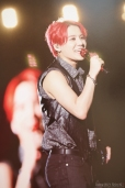 Xia Junsu red dracula hair 2014 Asia Tour Concert The Return of the King stage